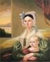 George Caleb Bingham, Mrs. David Steele Lamme (Sophia Woodson Hickman) and son William Wirt, 1837 (37)