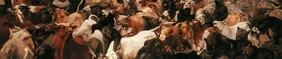 William Holbrook Beard (1824-1900), The Bulls and Bears in the Market, 1879, New York Historical Society, 971.104 (Detail)