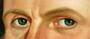 George Caleb Bingham, Dr. Anthony Wayne Rollins, 1835 (Detail - Eyes)