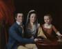John Trumbull, Jonathan Trumbull, Jr., Mrs. Trumbull (Eunice Backus), Faith Trumbull, 1777, Yale