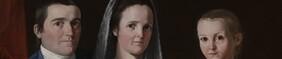John Trumbull, Jonathan Trumbull, Jr., Mrs. Trumbull (Eunice Backus), Faith Trumbull, 1877, 38 x 48 Yale 1920.2