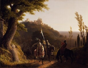 Robert Walker Weir, The Duke of Bourbon's Halt at La Riccia on His March to the Assau Rome May 3d, 1527, 1834