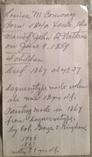 1938 Louise Watkins Provenance Note